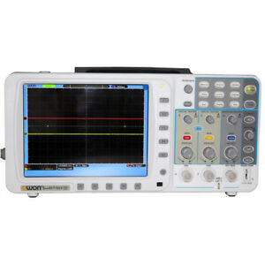 New Thin Owon 100mhz Oscilloscope Sds7102 1g s Large 8 Lcd Lan vga bag 3 Yrs Wa