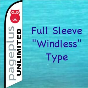 Page Plus Unlimited Windless Banner Flag Cell Phone Feather Advertising Sign