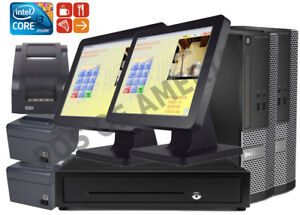 Pcamerica Pos System Rpe Restaurant Pizza Bar Pro Express 2 Stations I3 New