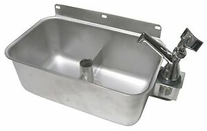 Stainless Steel Table Mount Dipperwell Sink W No Lead Faucet Nsf Hs dsreg