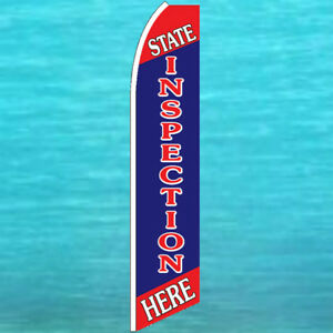 State Inspection Here Flutter Flag Tall Advertising Sign Feather Swooper Banner
