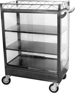 Ace Stainless Steel Chinese Dim Sum Cart Medium Size W 6 Swivel Casters C dsm