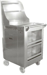 Ace Stainless Steel Chinese Dim Sum Fry Cart W 6 Swivel Casters C fry