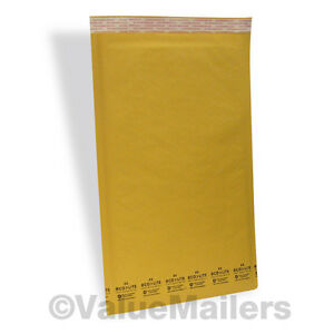 75 6 12 5x19 Ecolite Kraft Bubble Mailers Padded Envelopes Bags Self Sealing