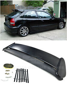 For 96 00 Honda Civic Ek9 3dr Hatchback Jdm Type R Style Spoiler Wing Body Kit
