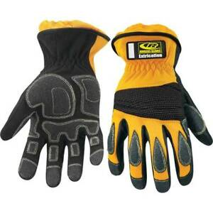 Ringers Extrication Marshal rescue mechanics Gloves Short Cuff Size Large Yellow