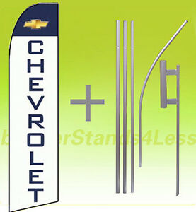 Chevrolet swooper Flag Kit Feather Flutter Banner Sign 15 Set Auto Dealer Wq