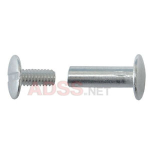 100 5 8 Aluminum Screw Posts Binding Screws Chicago Screws Binder Posts