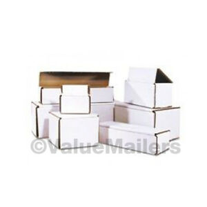 100 4x3x2 White Corrugated Shipping Mailer Packing Storage Box Boxes