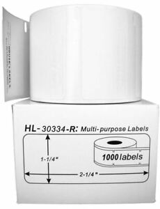 4 Rolls Of 1 000 Removable Multipurpose Labels For Dymo Labelwriters 30334 R