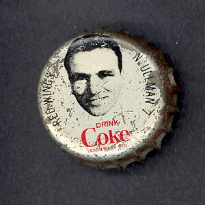 1964 65 COCA-COLA COKE BOTTLE CAP WITH CORK NORMAN ULLMAN DETROIT RED WINGS