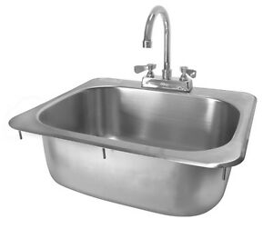 Ace Stainless Steel 20 X 17 Drop in Hand Sink With No Lead Faucet Etl Hs 2017ig
