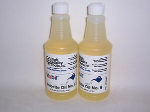2 Pints Of Mobil Velocite Spindle Oil 6 Bridgeport Mill