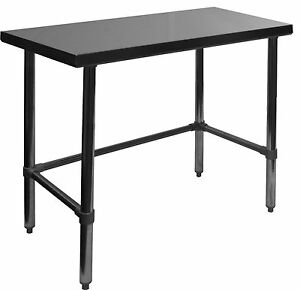 Gsw 24x24 Open Base All Stainless Steel Flat Top Work Table Nsf Wt p2424b