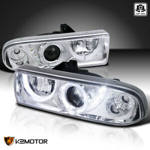 98 04 Chevy S10 Pickup Blazer Clear Dual Halo Projector Headlights Left Right