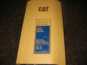 Cat Caterpillar 12h Motor Grader Shop Repair Service Manual
