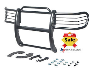 Fits 1998 2000 Nissan Frontier Bumper Brush Grille Grill Guard In Black