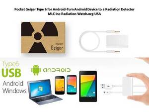 Radiation Detector pocket Geiger Type 6 For Android Turn Smartphone To Detector