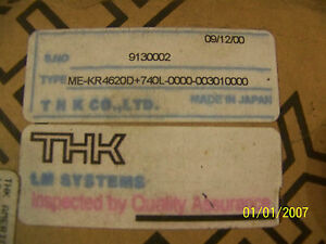 Thk Lm Systems Guide Actuator Me kr4620d 740l
