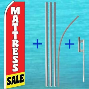 Mattress Sale Banner Flag 15 Pole Mount Advertising Sign Feather Swooper