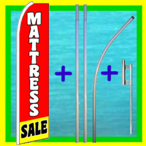 Mattress Sale 15 Banner Flag Pole Mount Advertising Sign Feather Swooper