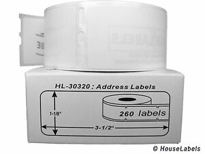 18 Rolls Of 260 Address Labels In Mini cartons For Dymo Labelwriters 30320