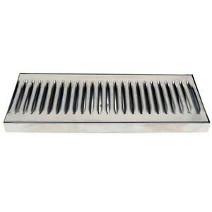 12 Countertop Drip Tray Stainless Steel Catches Draft Beer Spills