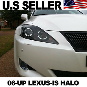 2x Lexus Is250 Halo Rings 6k 6000k Xenon White Perfect Fit For Is All Model