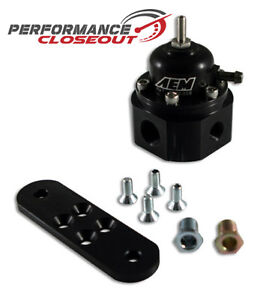 Aem Universal Black Adjustable Fuel Pressure Regulator Fpr 25 302bk
