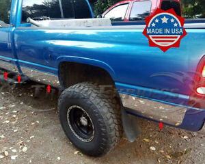 Fit 98 2001 Dodge Ram 4 Door Extended quad Cab Long Bed Rocker Panel Trim 8 5