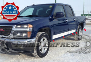 2004 2012 Chevy Colorado Canyon Crew Cab Rocker Panel Trim N F 4 Stainless Steel
