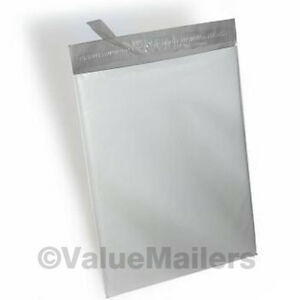 6x9 2000 9x12 100 Poly Mailers Envelopes Plastic Bags White Self Seal Bag