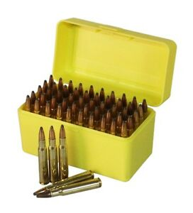 New Ammo Box 50rnd Ammunition Safe Gun Rifle Bullet Case Storage Firearm 243 308