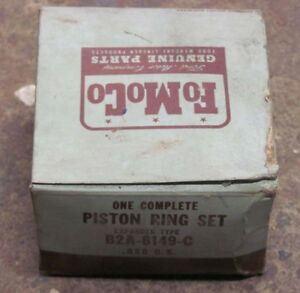 Nos 1952 52 Ford 6 Cylinder Piston Ring Set Expander Type B2a 6149 c