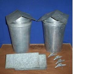 4 Maple Syrup Aluminum Sap Buckets Lids Covers Taps Spiles Spouts