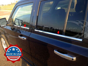 Fit 2007 2017 Jeep Patriot 4pc Chrome Window Sill Trim Stainless Steel Overlay