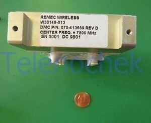 Rf If Microwave Bandpass Filter 7 800 Ghz Cf 39 Mhz Bw Data