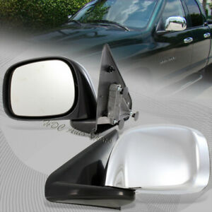 For 2002 2008 Dodge Ram Truck 1500 2500 3500 Manual Chrome Coated Side Mirrors