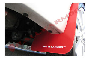 Rally Armor Red Ur Mud Flaps White Logo For 11 14 Impreza Sti Wrx Sedan