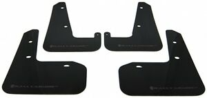 Rally Armor Black Ur Mud Flaps Grey Logo For 08 14 Sti 11 14 Wrx Hatchback