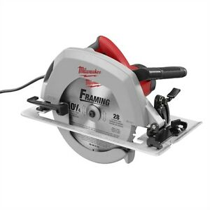 6470 21 Milwaukee 10 1 4 Circular Saw 15amp With Case