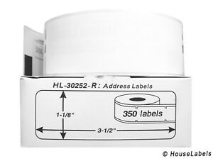 18 Rolls Of 350 Removable Address Labels For Dymo Labelwriters 30252 r