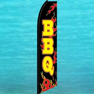 Bbq Flutter Flag Tall Barbecue Advertising Sign Feather Swooper Barbeque Banner