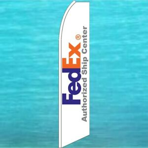 Fed Ex Fedex Authorized Ship Center Flutter Flag Tall Feather Swooper Banner