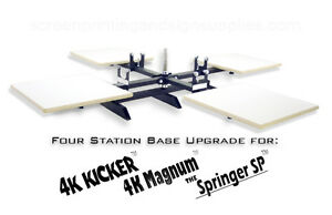 Silk Screen Printing Press Upgrade 4 Station Base Magnum Kicker Springer Sp