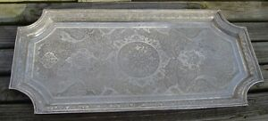 Incredible Antique 84 Silver Persian Iranian Tray