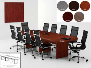 18 Foot Expandable Conference Table With Smooth Top No Grommets In 5 Colors