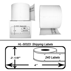 12 Rolls Of 240 Large Shipping Labels For Dymo Labelwriters 30323 30573
