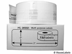 48 Rolls Of 750 Multipurpose Labels In Cartons For Dymo Labelwriters 30332