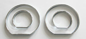 Bmw E46 3 ser High Quality Snap On Chrome Color Gauges Rings